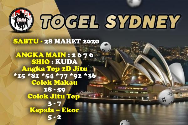 Prediksi Sydney Sabtu 28 Maret 2020 - Prediksi Mafia
