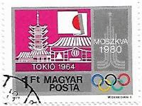 Selo Jogos Olímpicos e Tóquio 1964