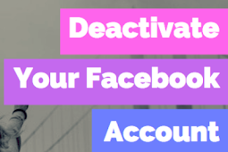 How to Inactivate Facebook