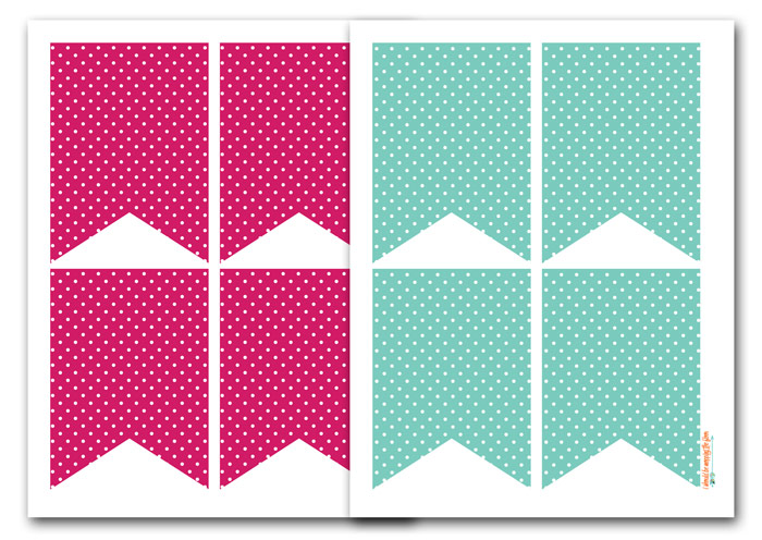 Polka Dot Banner Printable