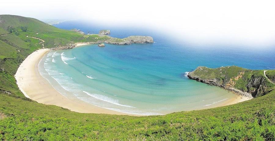 Playa de Torimbia, una de las mas hermosas de Asturias