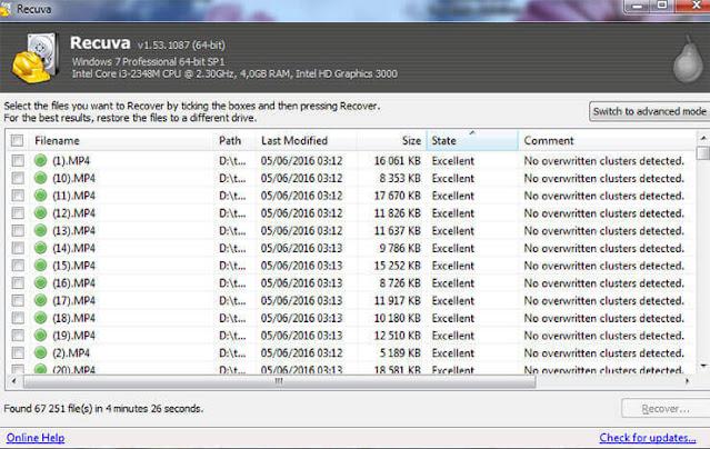 افضل برامج استرجاع الملفات المحذوفة من الكمبيوتر ويندوز 7