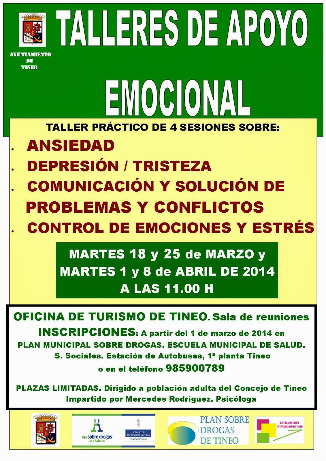 TALLERES DE APOYO EMOCIONAL EN TINEO