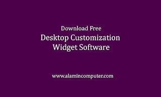 Desktop customization widget software download free