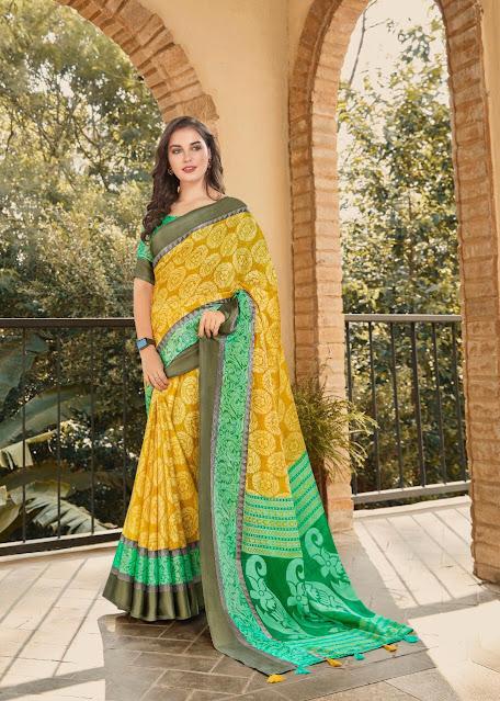 Silk brasso sarees Wholesale