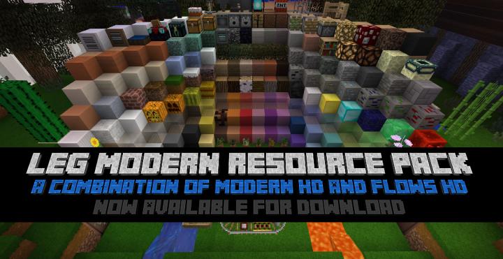 LEG Modern Resource Pack para Minecraft 1.9.2/1.9