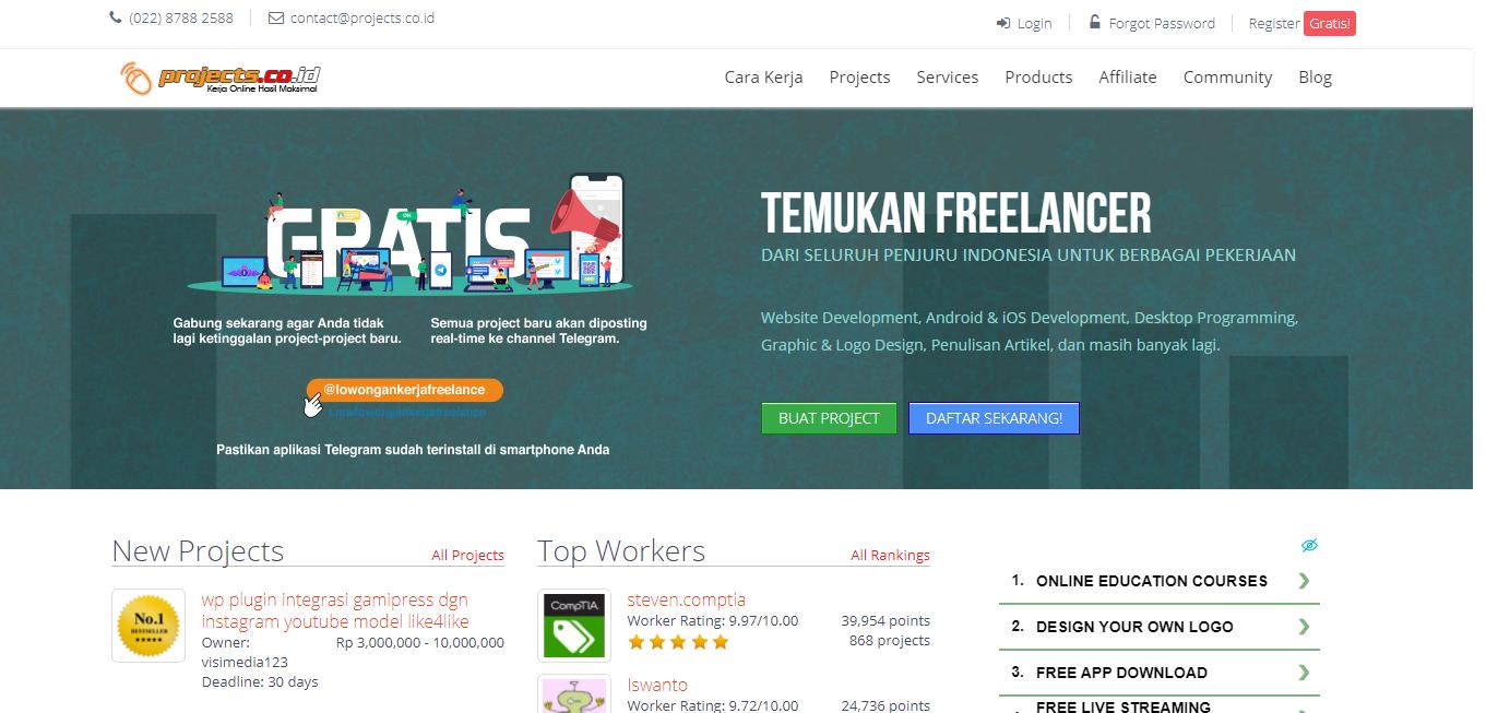 situs freelance terbaik di indonesia
