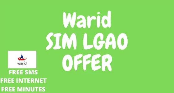 Warid Sim Lagao Offer 2020 – Get 3000 Minutes, SMS And 1500 MBs Internet