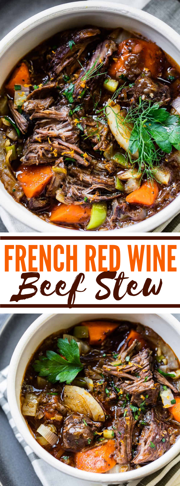 SLOW-COOKED RED WINE BEEF STEW #dinner #vegetables