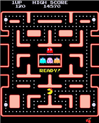 Classic Ms. Pac-Man screen