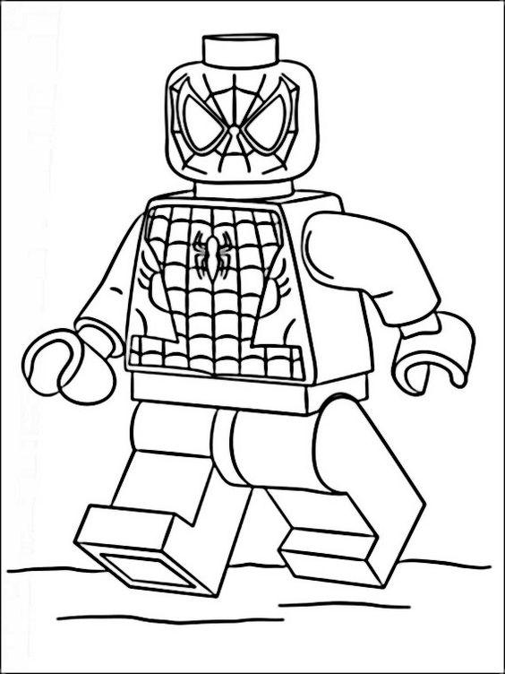 Lego City Kids Desenho Para Colorir Do Homem Aranha