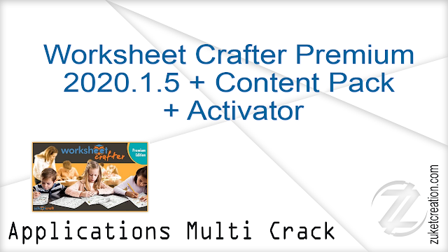 Worksheet Crafter Premium 2020.1.5 + Content Pack + Activator