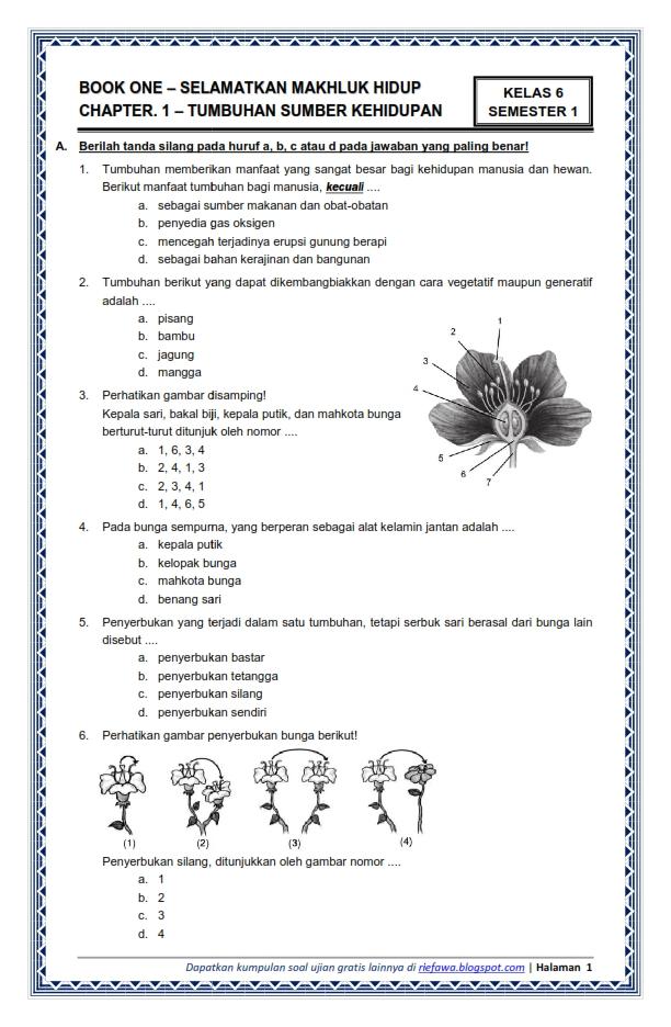 Download Soal Kelas 6 Semester 1 Tema 1 Subtema 1 ...
