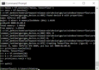TensorFlow running on GPU