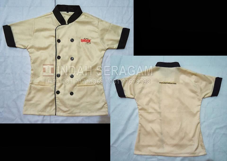 Indah seragam belvia mini pie uniform for Baju uniform spa