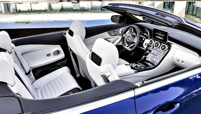 Mercedes-Benz C200 Cabrio 2017 interior azul rey