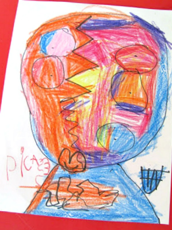 picasso portrait - the story of ferdinand art activity
