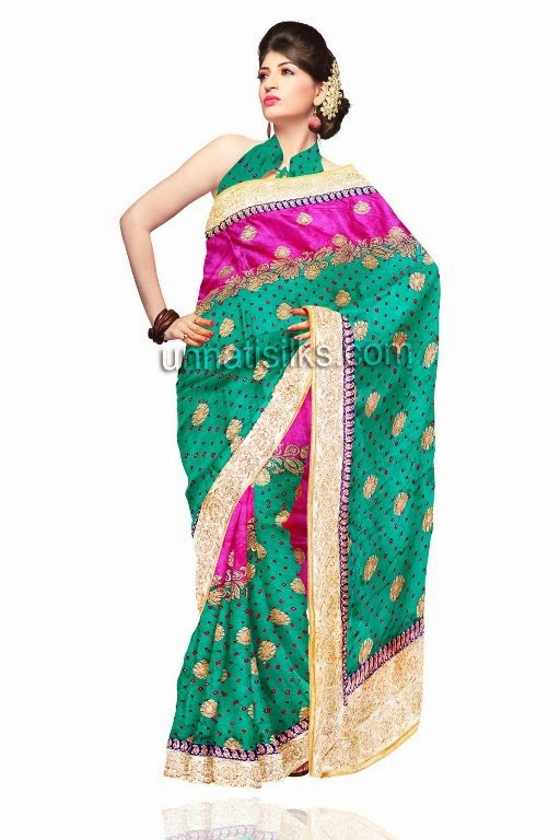 Zardosi Work Saree, Online Zardosi Work Saris, Buy ...