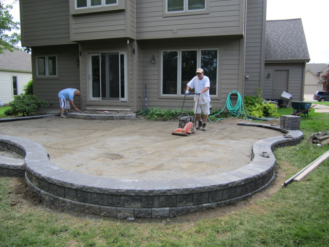 Raised Paver Patio
