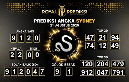 Royal Prediksi Sidney Jumat 21 Agustus 2020