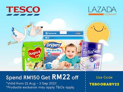 Tesco Malaysia Baby Fair Lazada Voucher Code Discount