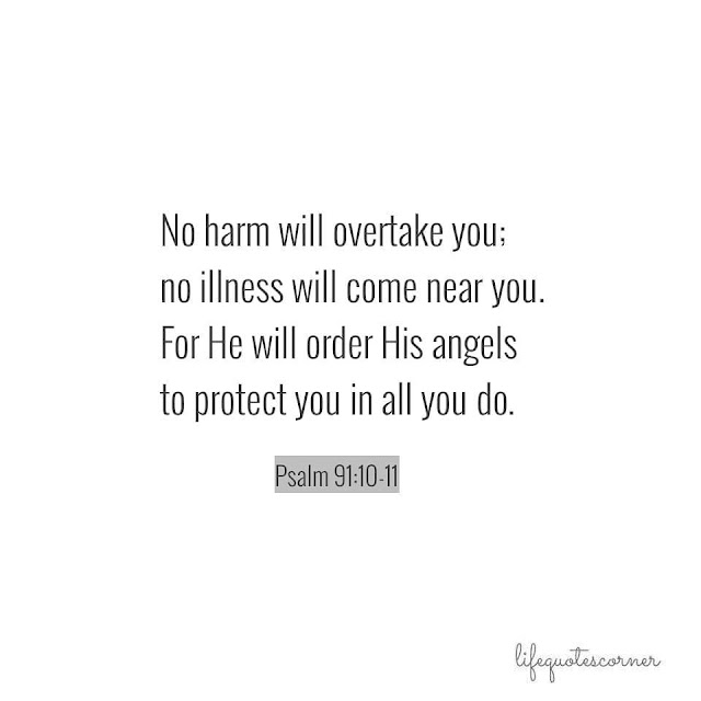 bible quotes, Psalm 91:10-11, bible verse