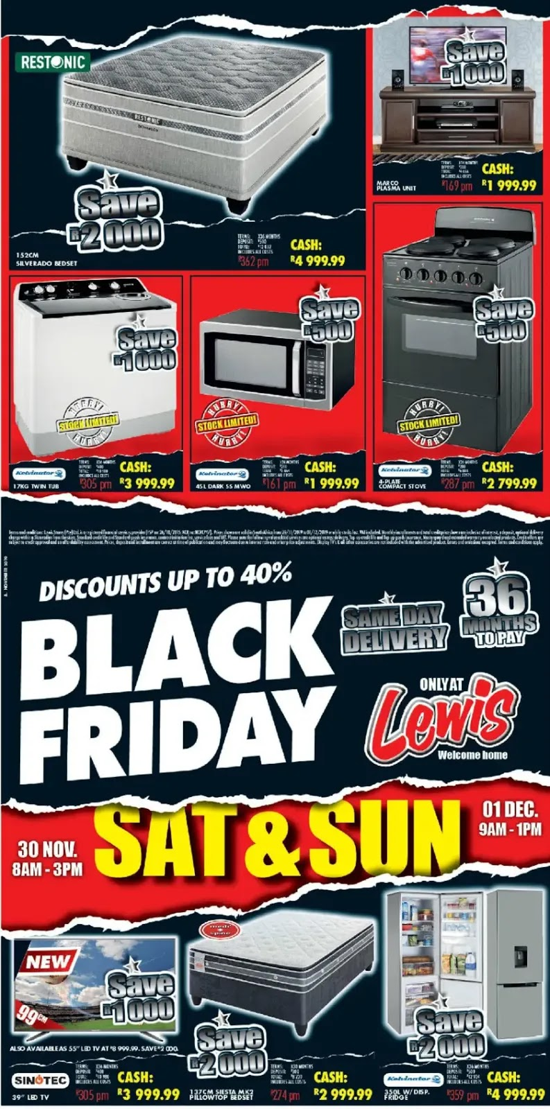 Lewis Stores - Black Friday Page 1