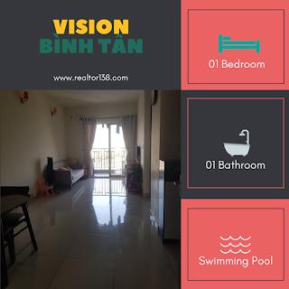 căn hộ 1 phòng ngủ chung cư vision phường tân tạo a bình tân