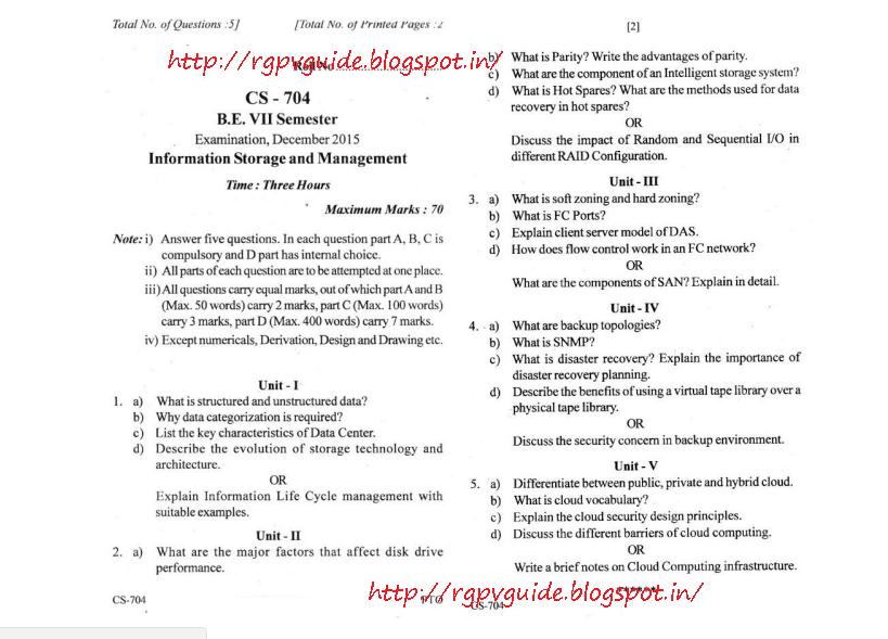Rgpv Diploma Paper - senchou info