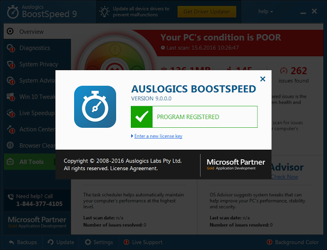 Auslogics BoostSpeed 9.1.1.0 Premium Serial Key
