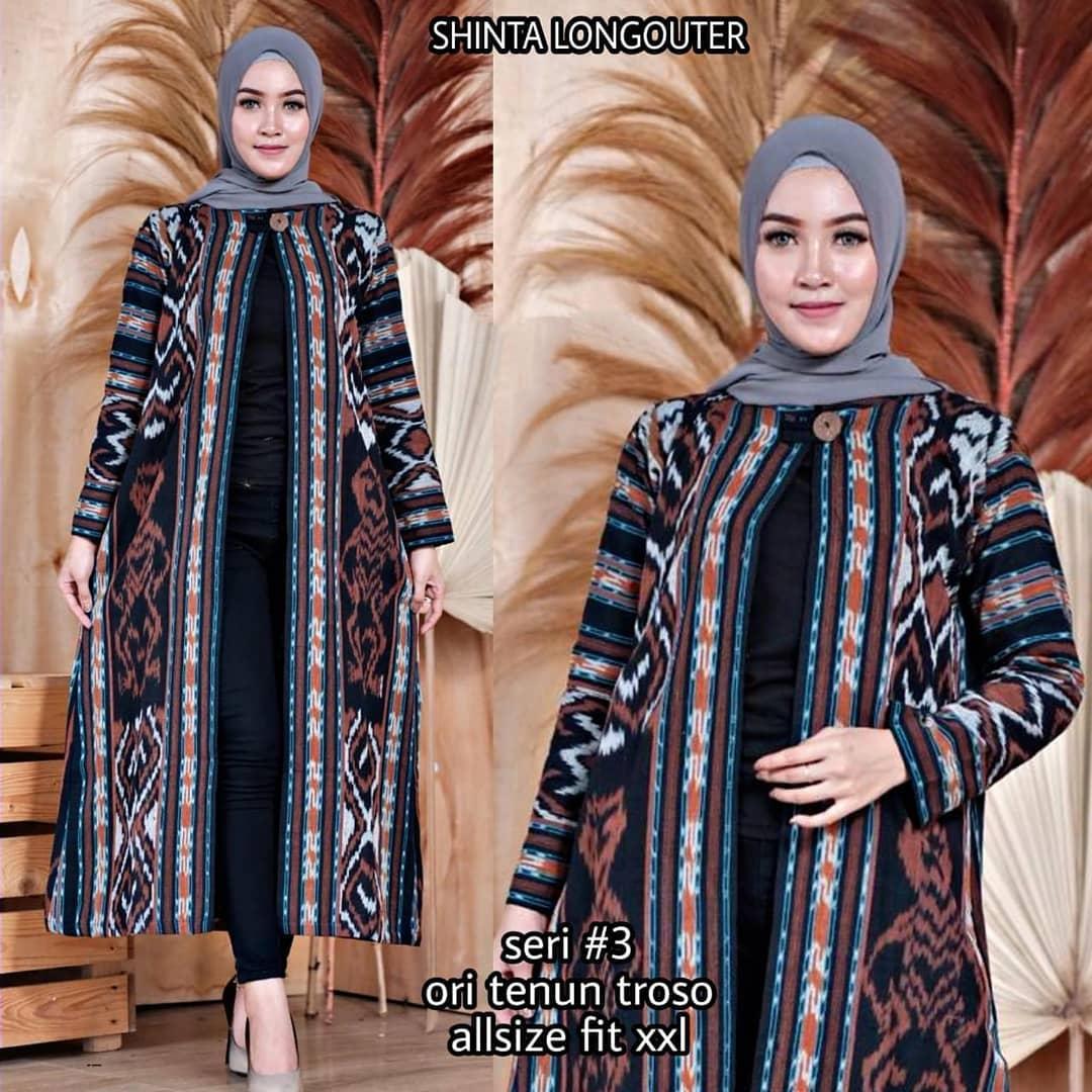 Model Tunik Batik Kombinasi Polos Terbaru 2020 Desain ...