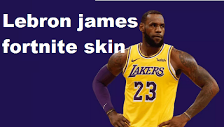 Lebron james fortnite skin can be next to the in-game skin