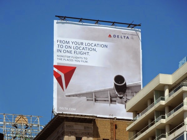 Delta Airlines on location billboard