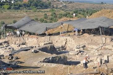 Ruinas de la antigua ciudad bíblica de Gezer
