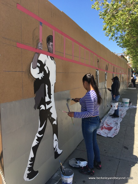 mural by Caleb Duarte at Jack London Square in Oakland, California