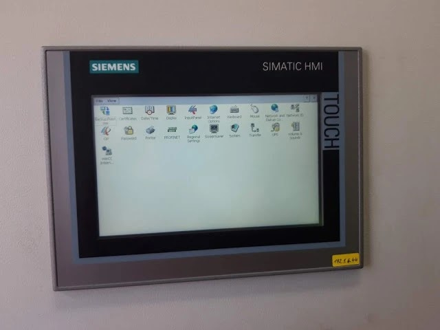 Booting the SIMATIC HMI and open the Controle Panel