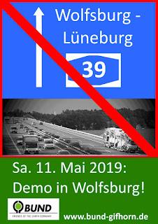 Demo in Wolfsburg am 11.05.2019 für das Klima und gegen die A39