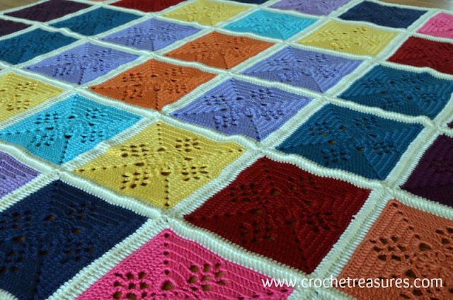 free crochet pattern, Victorian Lattice Square