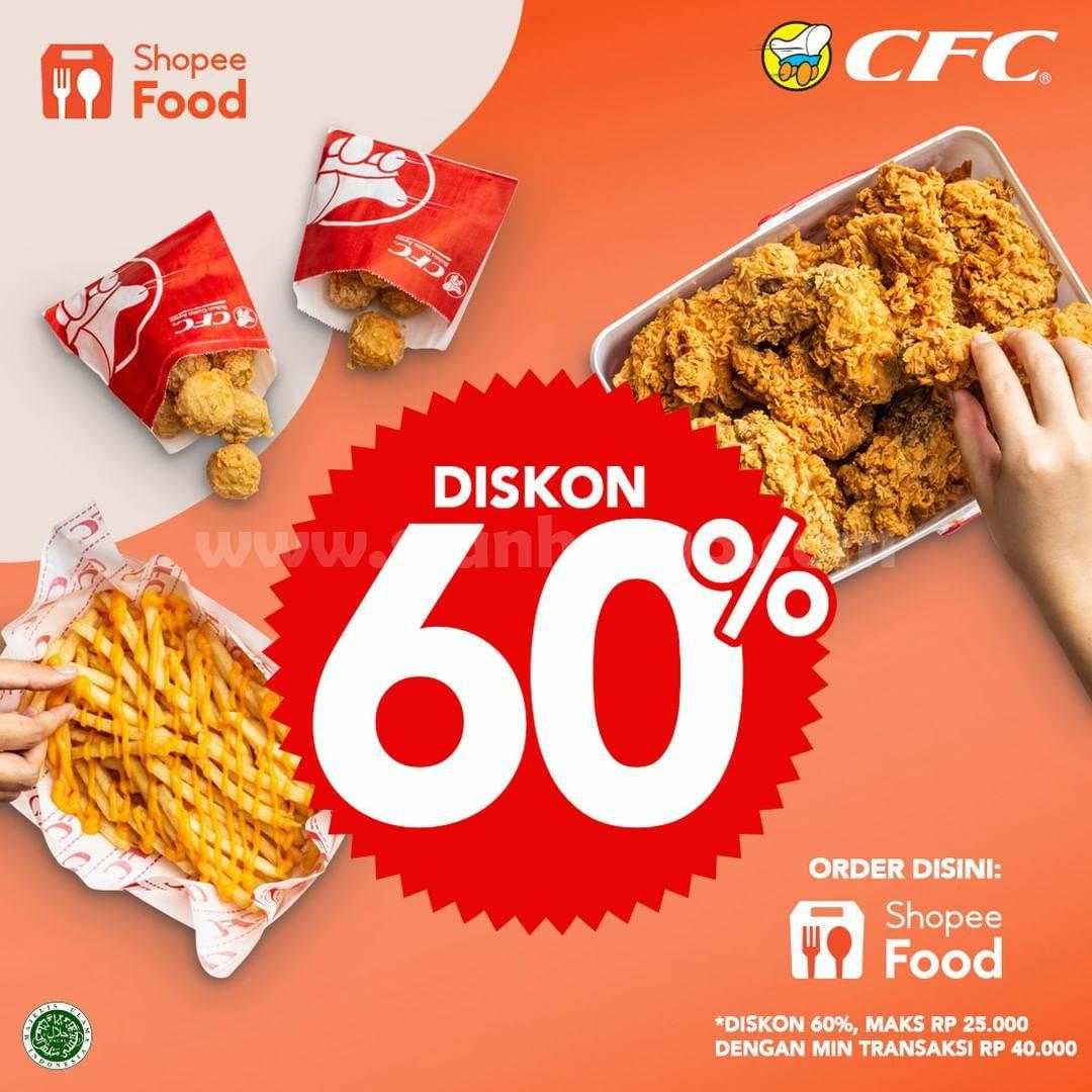 Promo CFC DISKON 60% Order via SHOPEEFOOD
