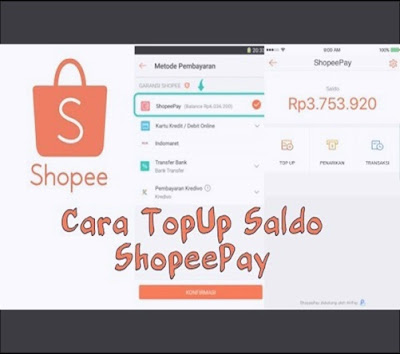 cara mudah top up saldo shopeepay