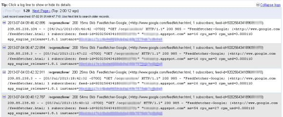 User Agent = Feedfetcher-Google - Search Engine Spider and ...