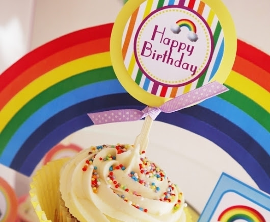 Rainbow Birthday Party with Printables | Party Ideas | Party Printables