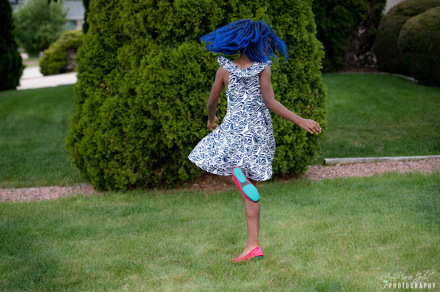 How to Celebrate Mother's Day From Far Away - Daughter Wearing Little Miss Tieks