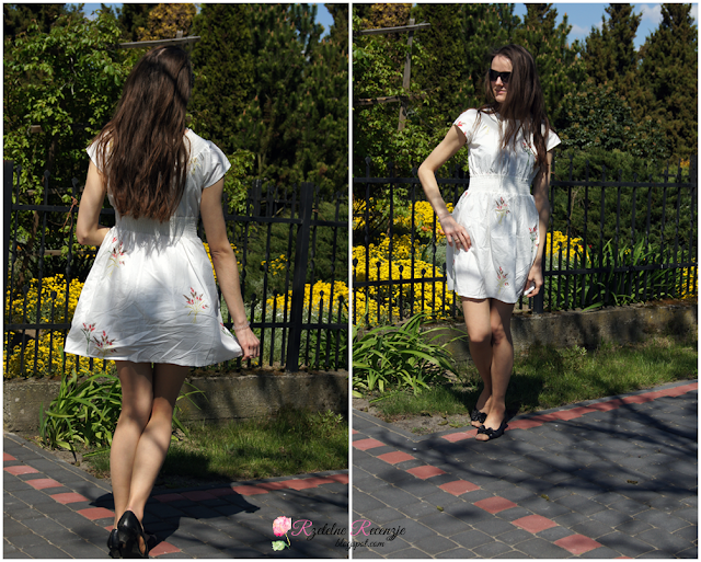 romwe dress, white dress, summer dress