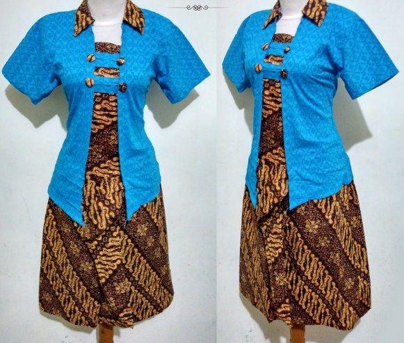 Model Baju Batik Dan Kebaya Kutu Baru Modern Untuk Wanita 2018