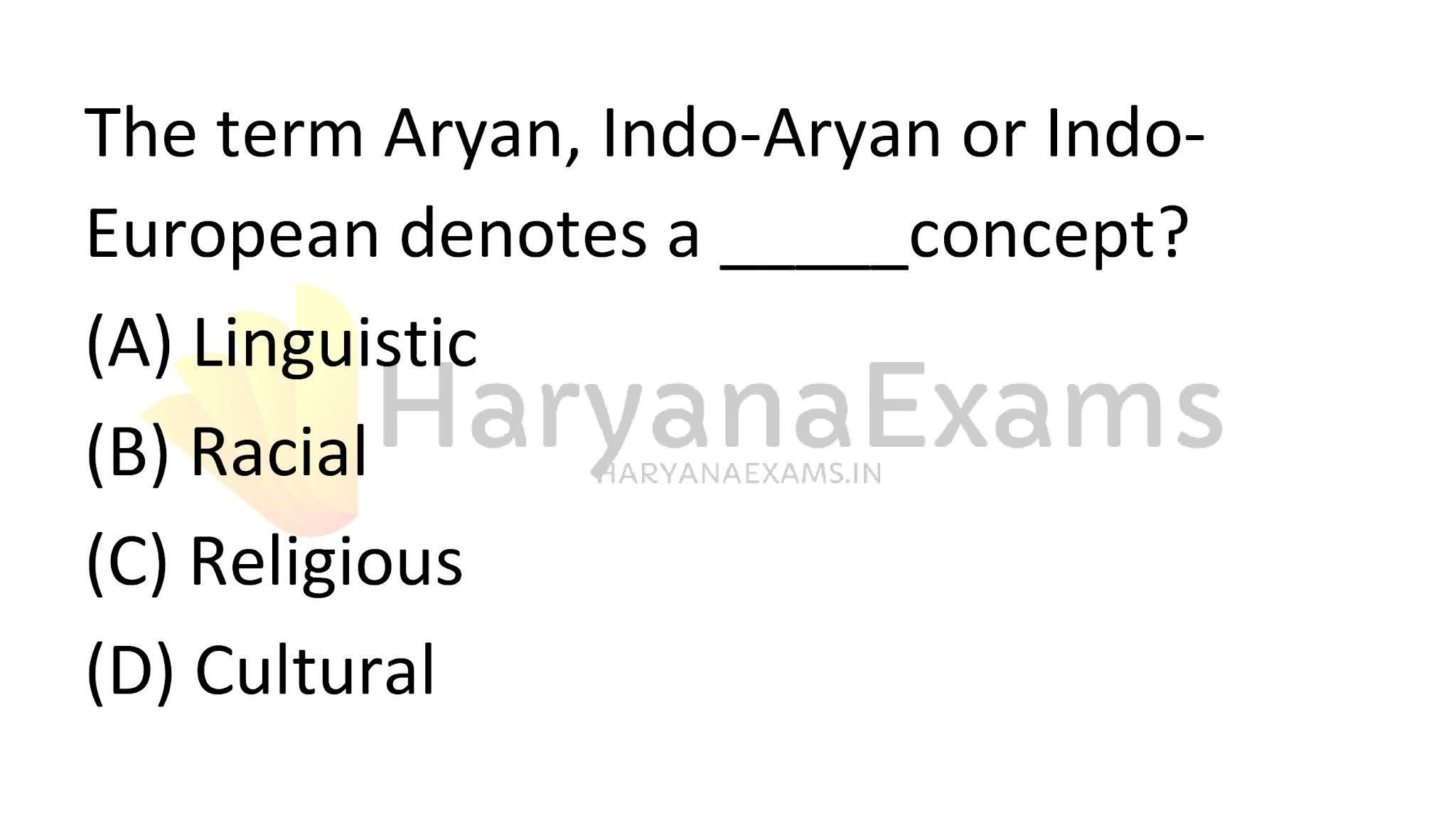 The term Aryan, Indo-Aryan or Indo-European denotes a _____concept?