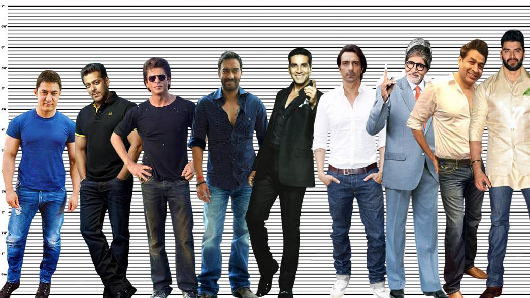 Akshay Kumar height comparison with Aamir Khan, Salman Khan, Shahrukh Khan, Ajay Devgn, Arjun Rampal, Amitabh Bachchan, and Rajat Bedi, and Nikitin Dheer.
