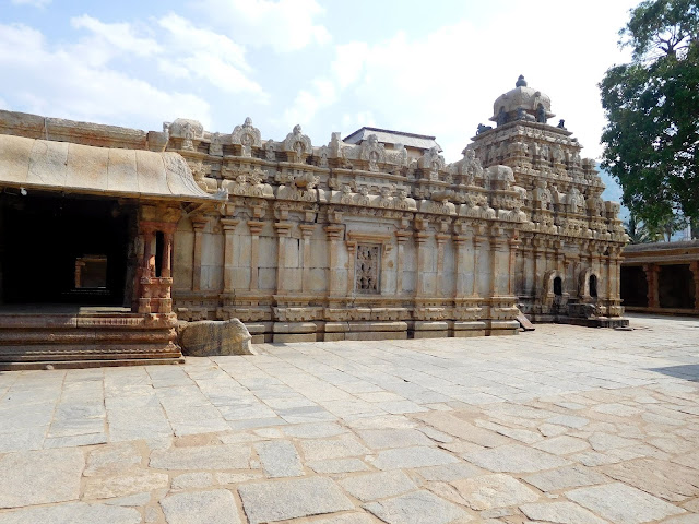 The spire, the vestibule, and the assembly hall of the Bhoga Nandeeshwara Temple, Karnataka