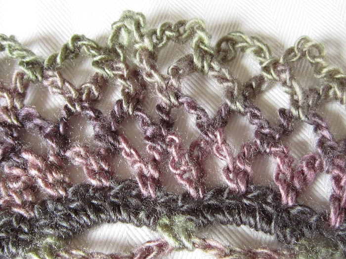 crochet, design, lace, color changing