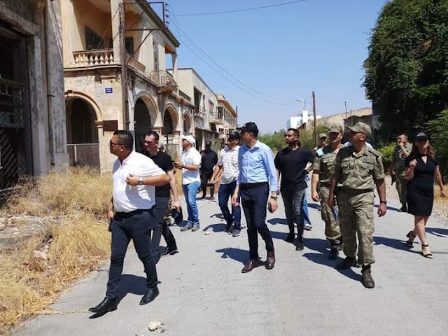 Προκλητική επίσκεψη Τουρκοκύπριων ηγετών στην κλειστή Αμμόχωστο